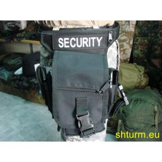 """Чанта  тактическа  , за колан и бедро , модел  """"SECURITY"""" , черна."""